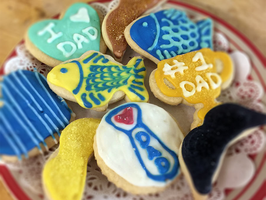 Nino's Bakery specially decorated Father's Day Cookies