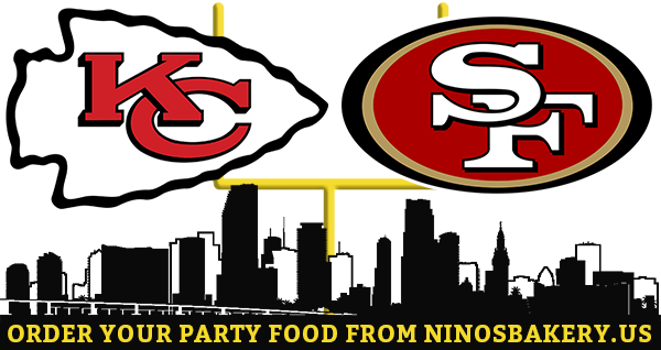 Catering from Nino's Bakery & Restaurant for your Super Bowl Party