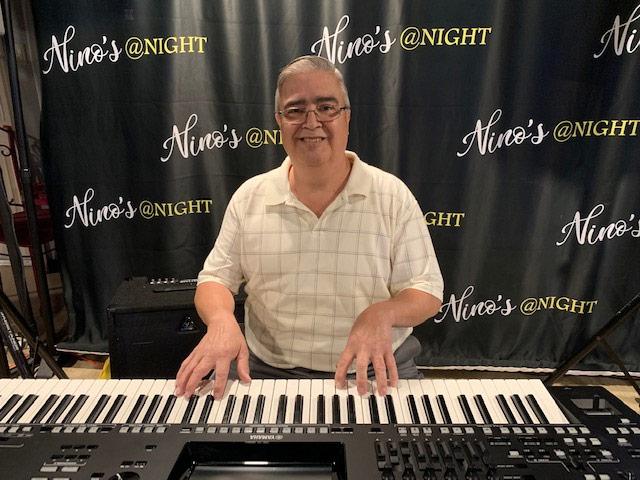 David Padin, on keyboard, Sundays at Nino's