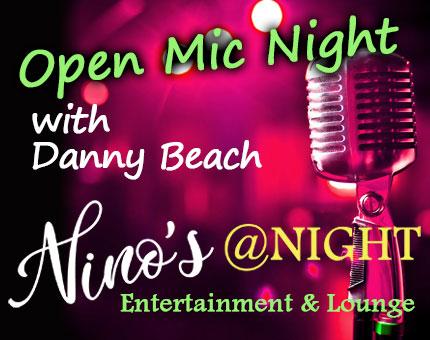 Open-Mic-Night at Nino's, logo