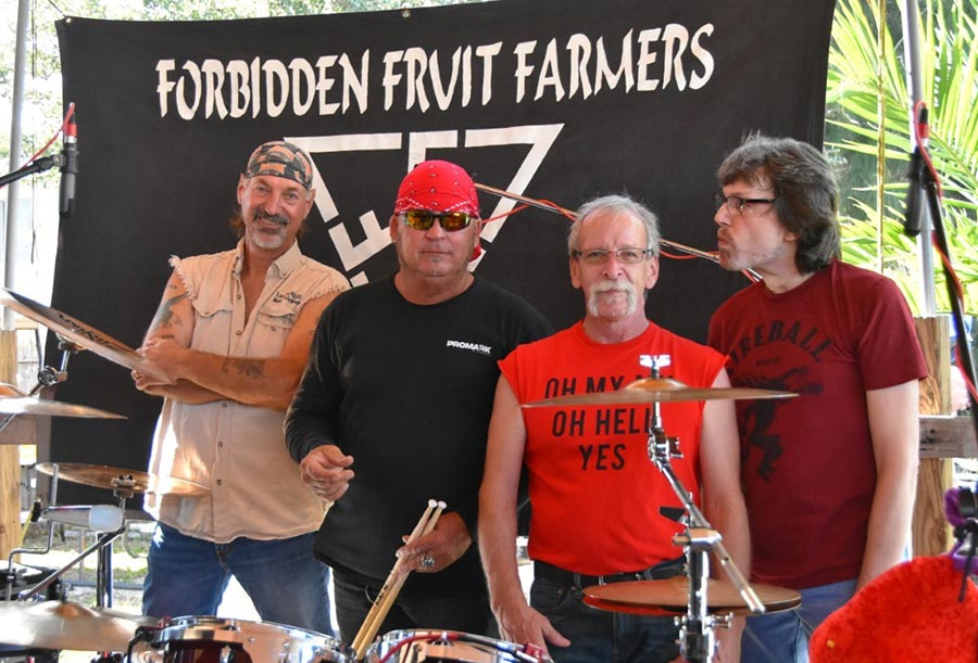 Forbidden Fruit Farmers band plays Nino's at NIGHT!